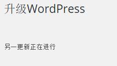 """升级 WordPress 时提示""""另一更新正在进行""""解决方法"""