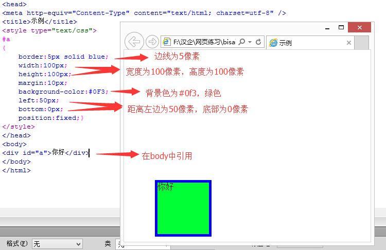 HTML基础知识——css样式表,样式属性,格式与布局详解
