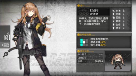 少女前线UMP9值得练吗 UMP9实用性分析