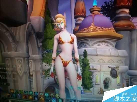 魔兽世界人物怎么变大 巨型裸女BUG介绍