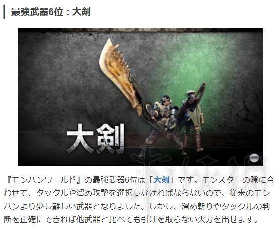 怪物猎人世界什么武器厉害 强力武器排名一览