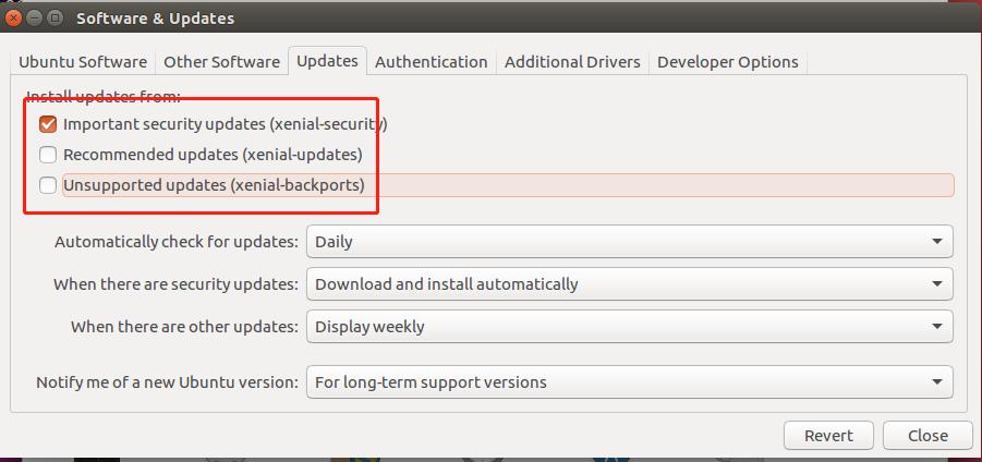 ubuntu 禁止内核更新命令