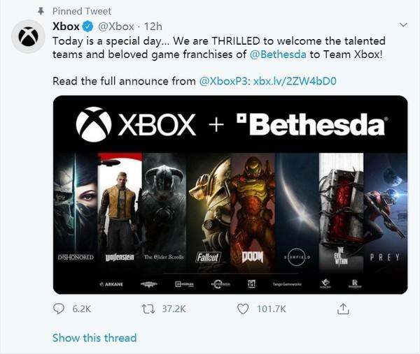 """微软发动钞能力 75亿美元收购B社 获""""辐射""""等游戏版权"""