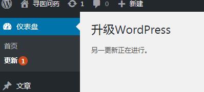 """升级WordPress时提示""""另一更新正在进行""""解决方法"""