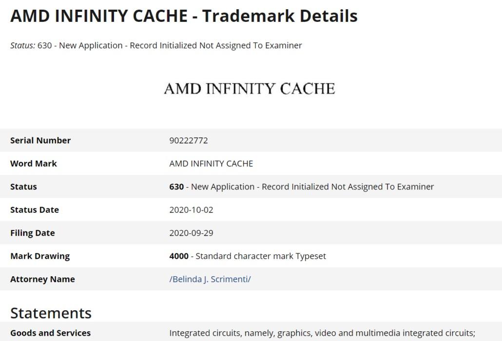 消息称 AMD RX 6000 系列支持无限缓存技术