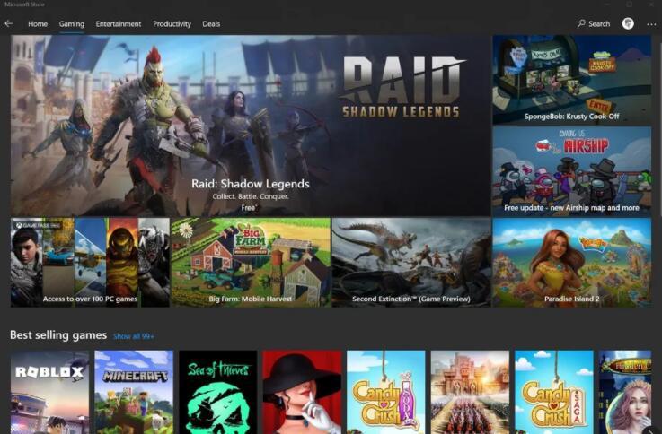 微软应用商店游戏佣金从30%降至12% 与Steam竞争