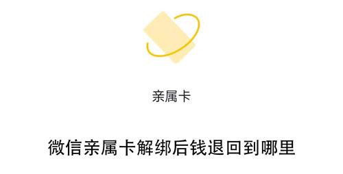 微信亲属卡解绑后钱退回到哪里-冯金伟博客