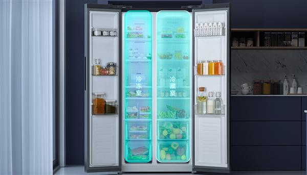 米家对开门冰箱485L开抢:智能互联 首发仅2499元