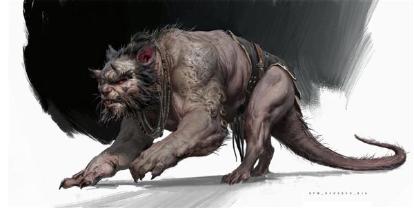 《黑神话:悟空》官方公布新原画:两只凶猛老鼠妖怪感受下