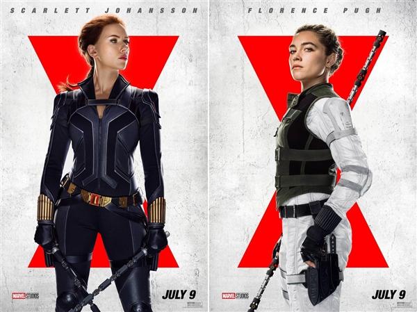 漫威《黑寡妇》发布角色海报:寡姐手持双棍 英姿飒爽