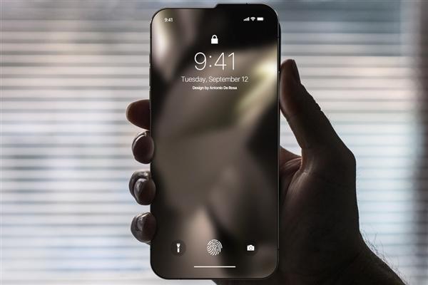这款iPhone去掉了刘海增大了屏占比:不过它长这样