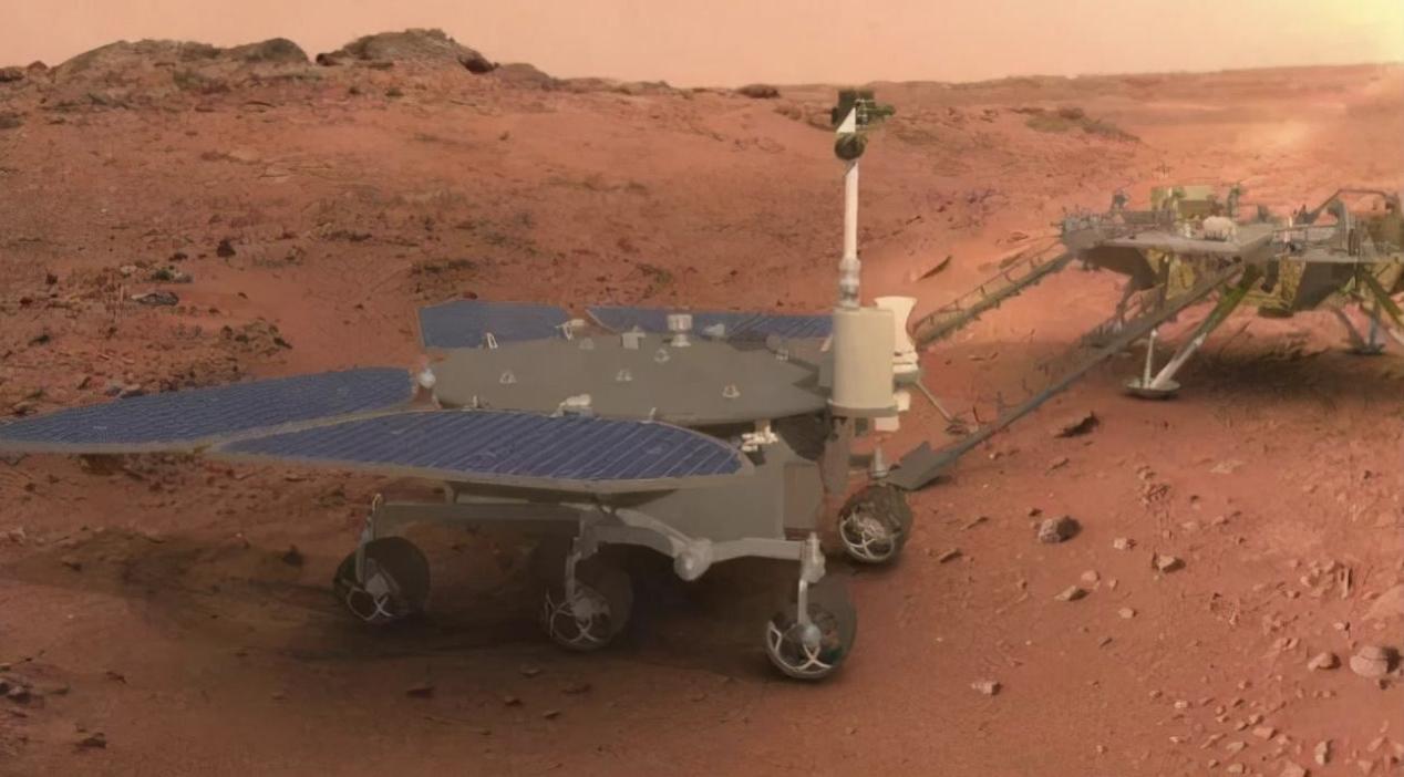骄傲!祝融号成功着陆 五星红旗闪耀火星