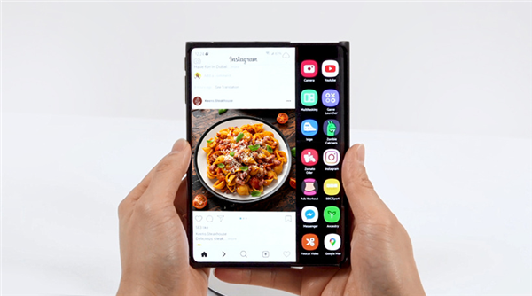 三星多款新品曝光:卷轴屏、双折叠手机 17寸折叠显示器