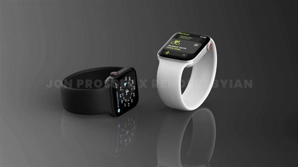 重大改动!Apple Watch Series 7渲染图曝光:直角边框、多彩配色