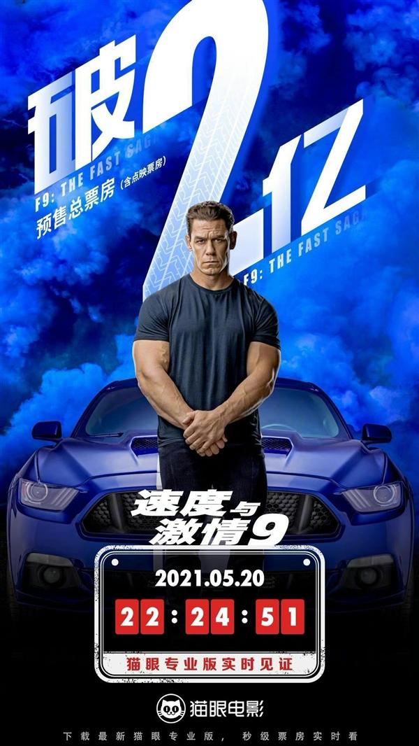 《速度与激情9》今日正式上映 国内票房破2亿