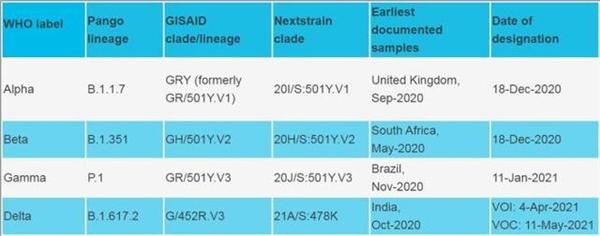 世卫用希腊字母命名新冠病毒变异株:去污名化、简化名称