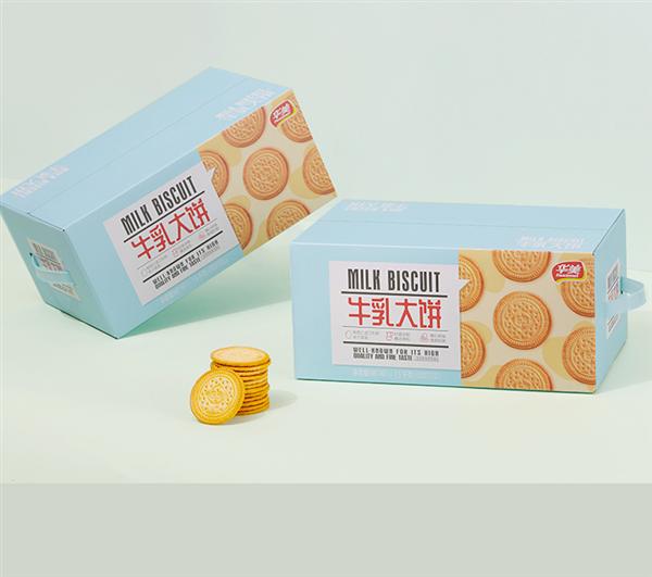 奶香酥脆 华美旗舰店牛乳大饼干3斤19.93元抄底