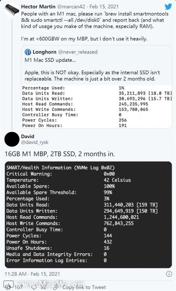 苹果出手:新MacOS修复M1机型SSD过度磨损问题