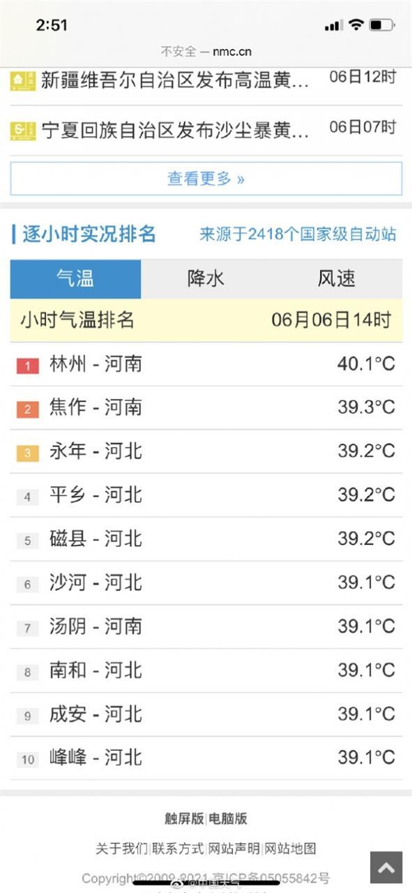 """北方迎最强高温:多地达40℃ 河北河南热成""""炣""""北""""炣""""南"""