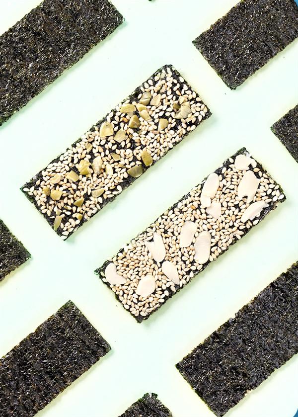 5种口味 藤壶岛芝麻海苔夹心脆40gx3罐8.8元史低