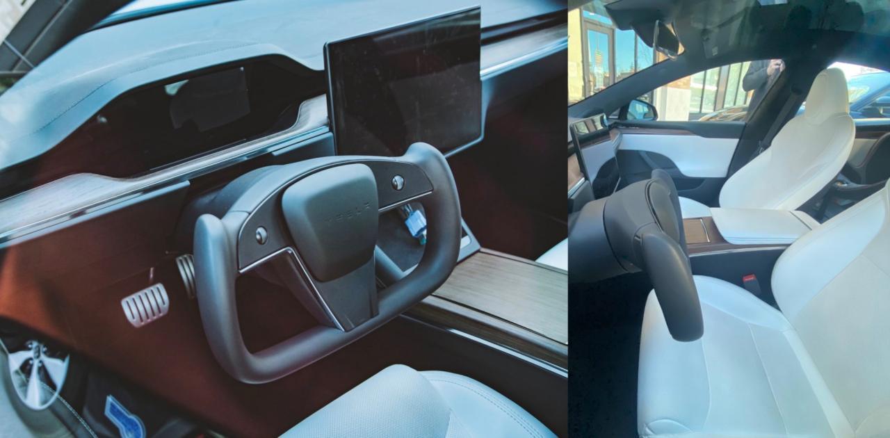 特斯拉Model S Plaid矩形方向盘不实用又危险?马斯克:它很棒