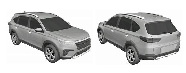 比CR-V还便宜的7座SUV!全新本田BR-V专利图曝光