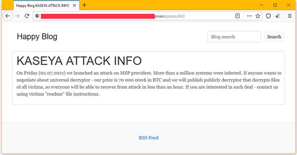 声称入侵上百万个系统:勒索团队索要价值7000万美元比特币赎金