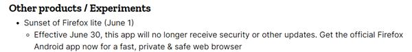 发布仅四年!Mozilla宣布Firefox Lite停止开发