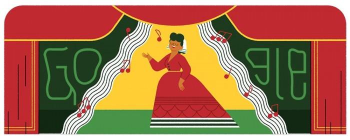 今日谷歌涂鸦:纪念音乐家Ángela Peralta 175岁诞辰