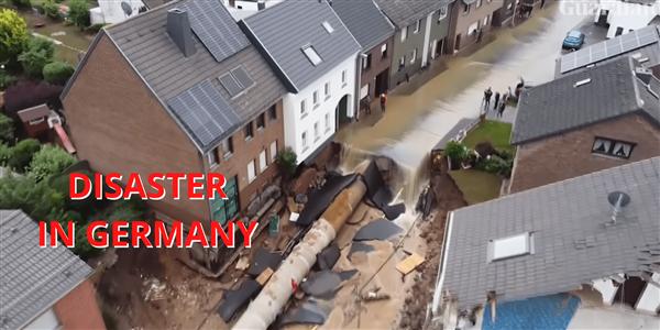 德国洪灾已致157人丧生:无人机拍下骇人画面