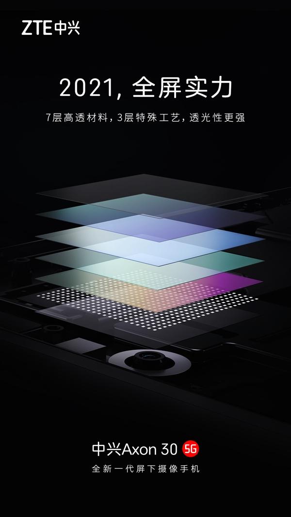 中兴全球首发屏下摄像手机!倪飞:手机屏幕的终极形态