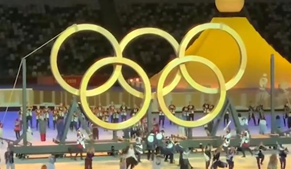 木制奥运五环亮相:取自57年前树种长成的大树