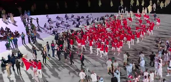 东京奥运会开幕式直播 中国代表团入场:BGM系游戏配乐