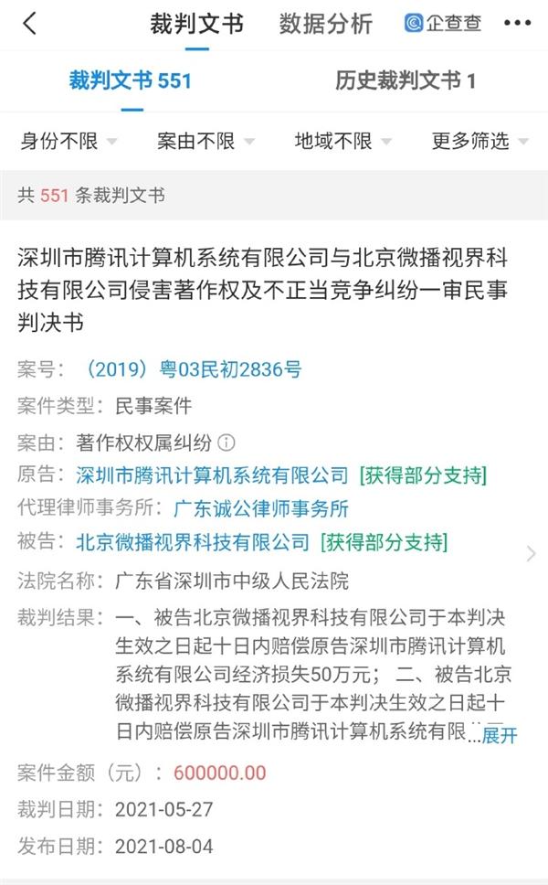 不正当竞争!腾讯起诉抖音播放《王者荣耀》获赔60万