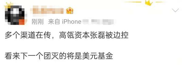 传高瓴资本创始人张磊被边控 官方回应:严重不实 已报案