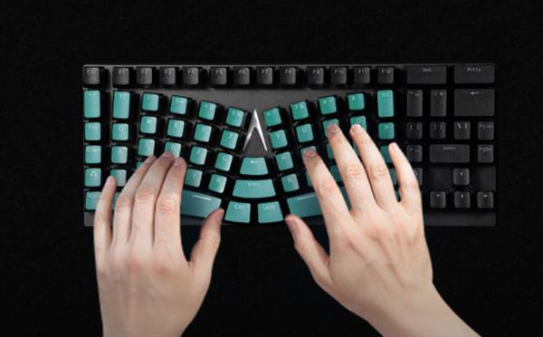 299元 世界手感最佳游戏键盘上架小米有品众筹:弧线造型