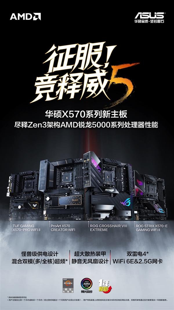 华硕发布四款AMD X570顶级主板:全部无风扇0噪音