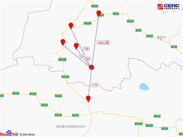 甘肃酒泉市阿克塞县发生5.5级地震:周边近5年有28次3级以上地震