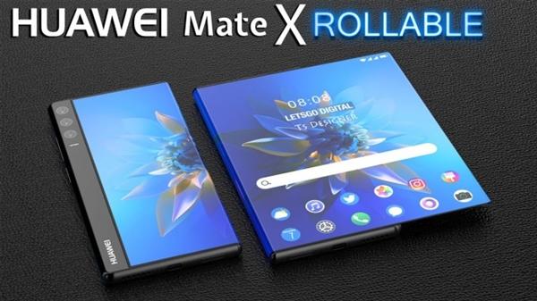 华为Mate X Rollable概念图曝光:6.5寸手机秒变11寸平板