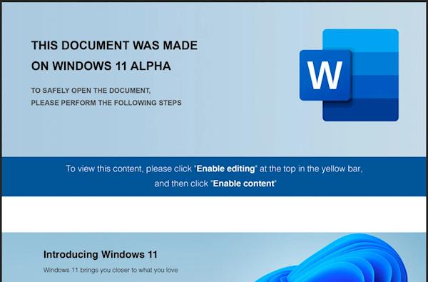 小心Windows 11 Alpha!系不良黑客炮制用于网络钓鱼