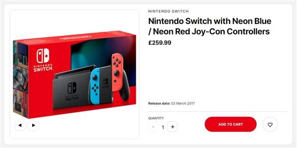 任天堂正式下调部分市场Switch游戏机售价:降幅约456元