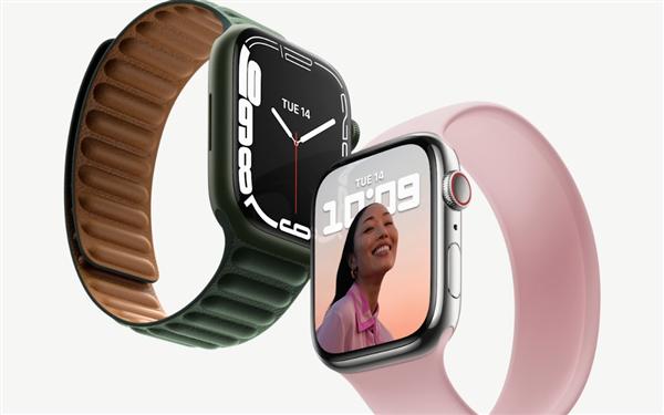 苹果发布Apple Watch 7系列智能手表:7年来首次大改、18小时续航