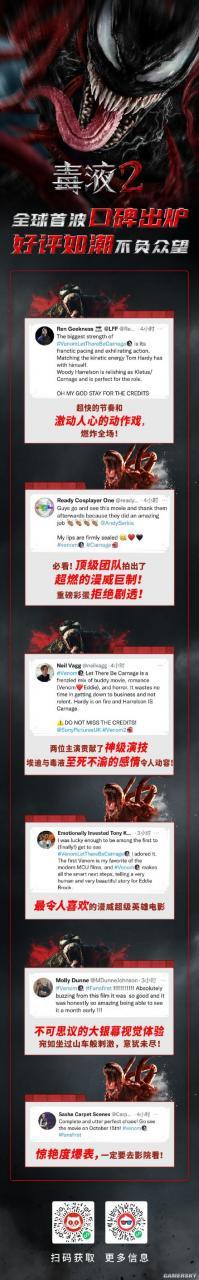 《毒液2》将达PG13评级极限 首批社交媒体好评如潮