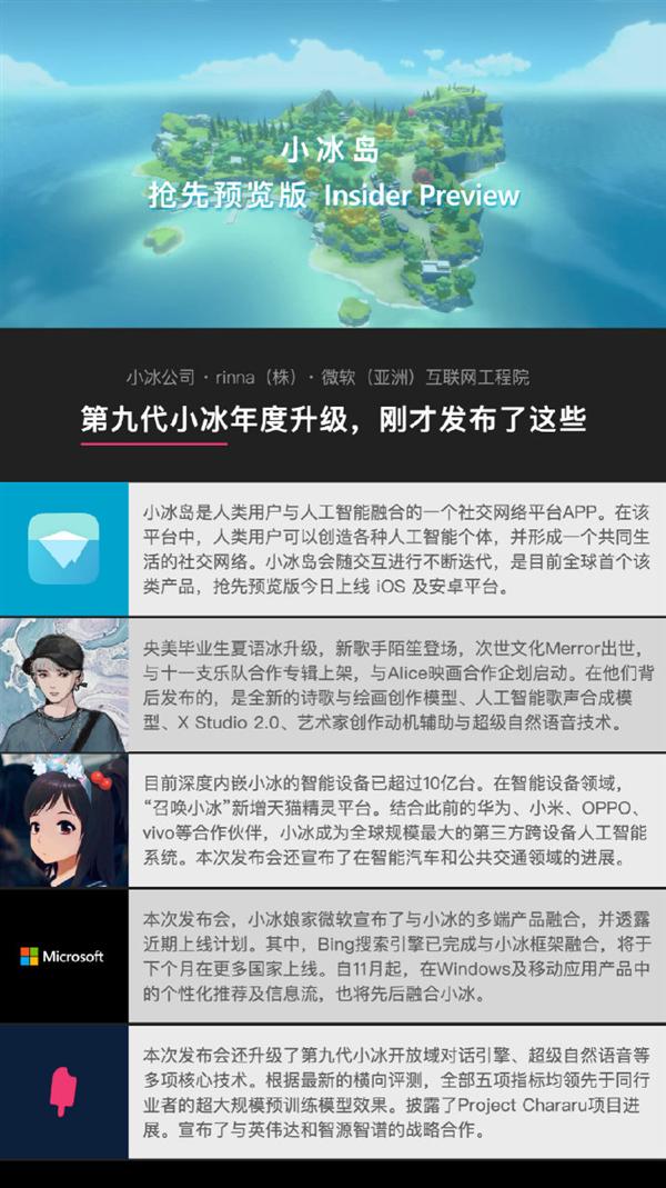 """微软小冰回归微信!首个第一方社交平台App""""小冰岛""""发布"""